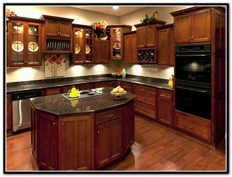 dark cherry kitchen cabinets granite light granite countertops white cabinets home design ideas