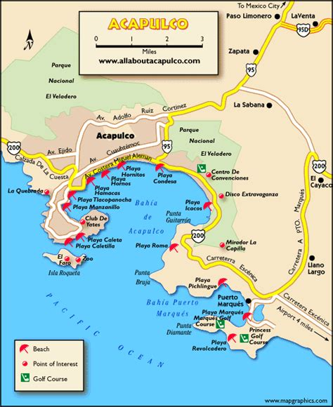 map acapulco mexico acapulco mexico map