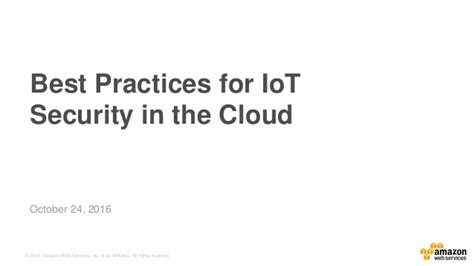 best practices of iot security in the cloud