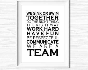 printable team quotes etsy your place to buy and sell all things handmade