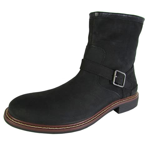 buckle mens boots cole haan mens bryce zip ankle buckle winter boot shoes ebay