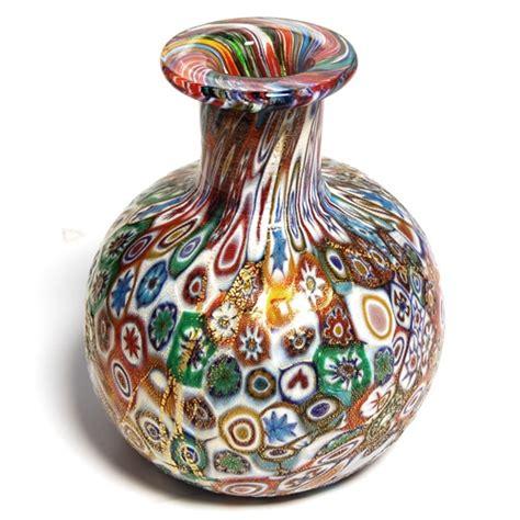 millefiori vase small millefiori glass vase millefiori madness