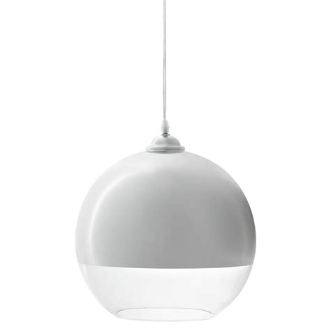 White Modern Pendant Light with Half Dome White Pendant Light Brickell Collection Modern