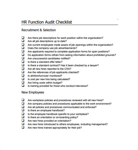 audit policy template sle audit checklist template 13 free documents in pdf
