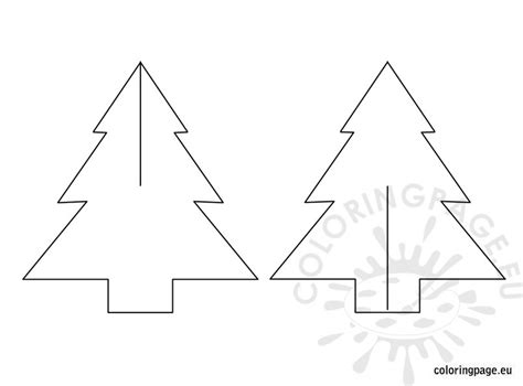 3d Christmas Tree Template Coloring Page 3d Tree Template Free