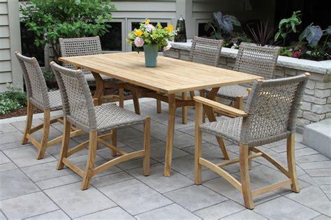 Nautical Dining Tables Nautical Teak Hardwood Outdoor Rectangle Dining Table