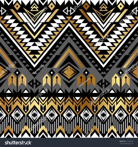 wallpaper tribal gold tribal navajo ornamental seamless pattern aztec stock