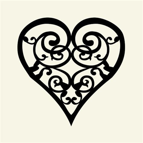 heart and scroll tattoo designs scroll paper print wayfair