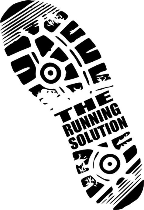 running shoe print vector the running solution 1 clip at clker vector clip
