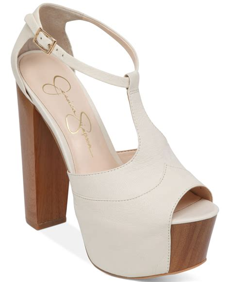 t platform sandals lyst dany t platform sandals in white