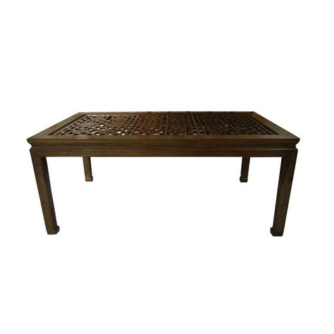 vintage asian style dining table  carved top  stdibs