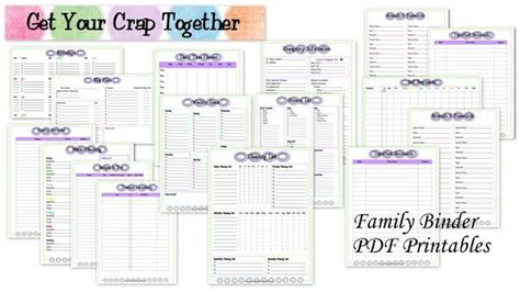 family organization family binder printables organization