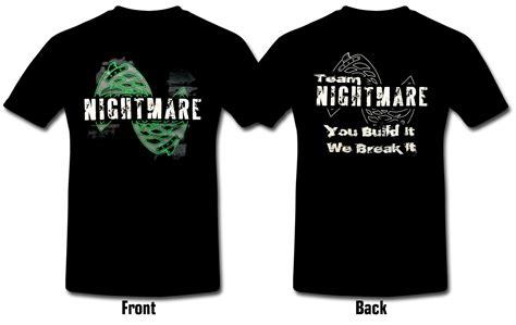 T Shirt Tamiya Custom Team team nightmare t shirt size xl nmts04