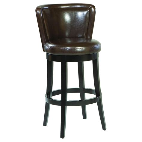 Leather Bar Stool With Back with Leather Bar Stools With Back Decofurnish