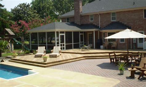 House Plans With Wrap Around Porches Multilevel Deck Builder Multilevel Deck Design