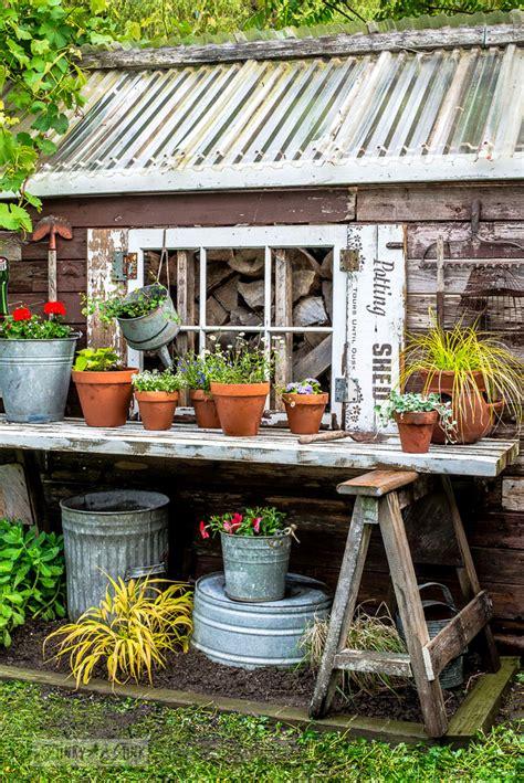 potting shed shutters   flowers   shedfunky