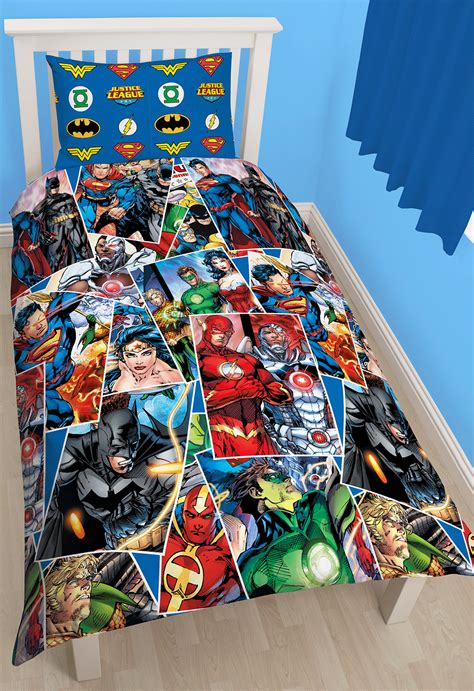 justice league invincible single duvet cover reversible