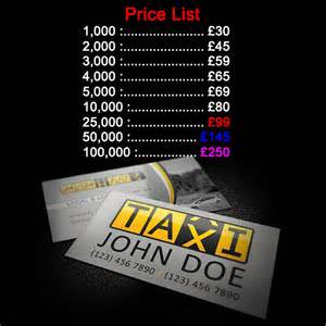 taxi cab business cards taxi business cards printing cheap minicab cards uk