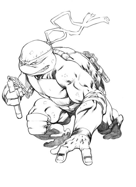 michelangelo turtle coloring page michelangelo tmnt sketch by robertatkins on deviantart