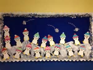 Winter penguin bulletin board bulletin board ideas pinterest