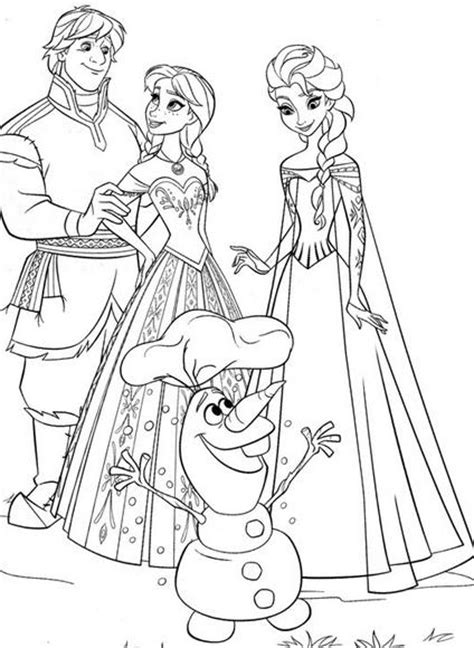 characters from frozen coloring pages