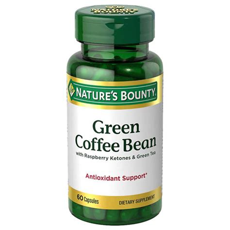 Green Tea Blend Coffee Bean nature s bounty green coffee bean with raspberry ketones green tea capsules walgreens