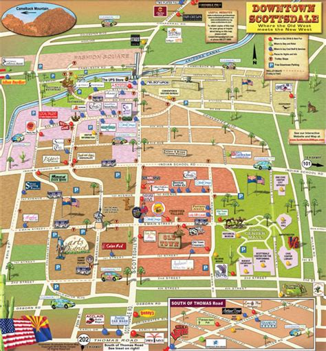 image gallery scottsdale map