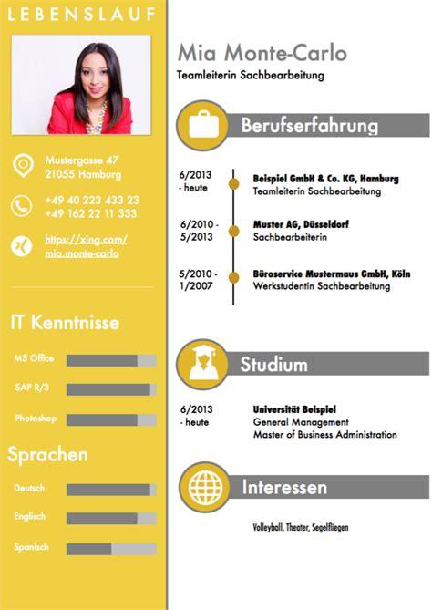 Lebenslauf Muster Herunterladen by Lebenslauf Muster 4 Gelb Kostenlos Downloaden