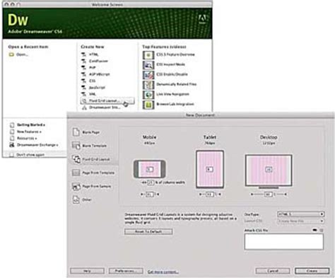 dreamweaver tutorial fluid grid layout helping adobe dreamweaver tutorials