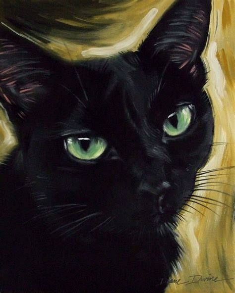 Black Lovely Cat paintings from the s black cats and leo
