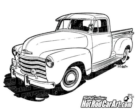 vintage cars drawings 1947 chevrolet truck clip car drawings and