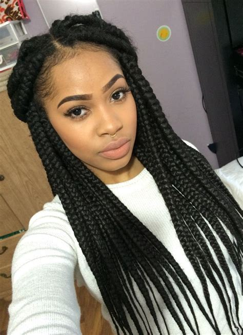 pictures of how to do jumbo boxbraids 252 best box braids images on pinterest protective