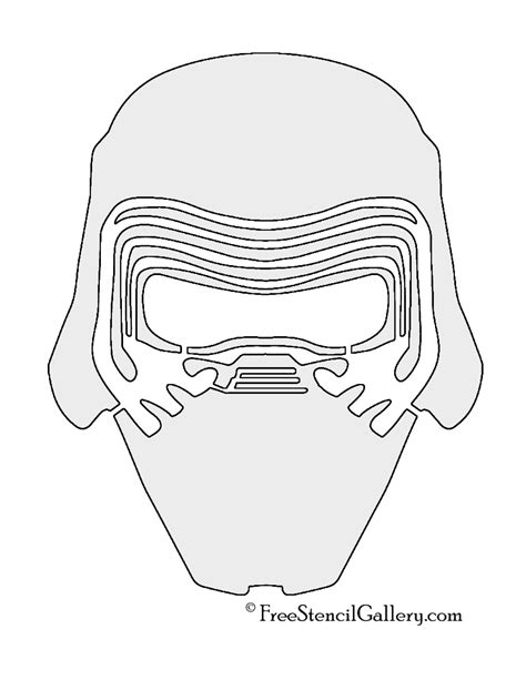 coloring pages kylo ren kylo ren face coloring page pictures to pin on pinterest