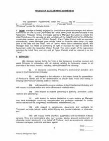Music Production Agreement Template Producer Manager Contract Musiccontracts Com