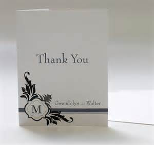 lavish monogram personalized thank you card personalized wedding thank you cards