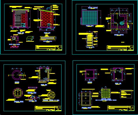 septic tank  accessories dwg plan  autocad