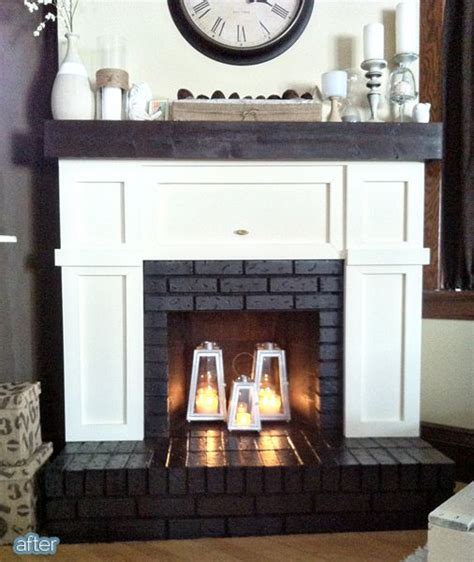 Inside Fireplace Decor Better After Fire In The Hole Home Love Pinterest