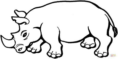 imagenes para colorear rinoceronte dibujo de un rinoceronte dibujo para colorear dibujos