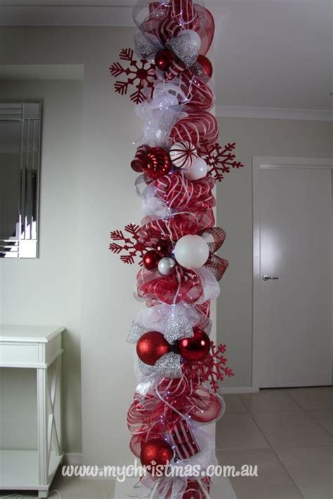 how to decorate indoor column for xmas idea for support column or pole indoor decor house tours