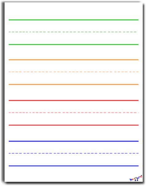 Paper With Children - search results for printable kindergarten lined writing