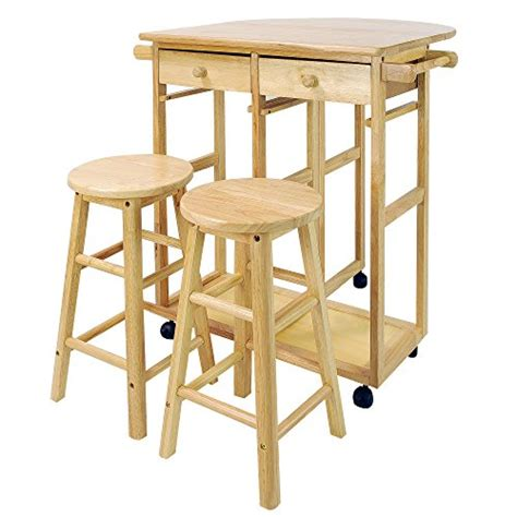 Breakfast Cart With 2 Stools by Mobile Breakfast Cart With 2 Stools And Drop Leaf Table