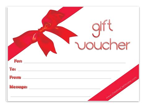 Blank Voucher Template Free best photos of gift voucher template certificate gift
