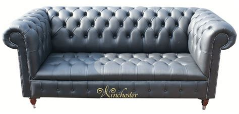 Leather Sofas Essex Essex Chesterfield 3 Seater Black Leather Sofa Offer