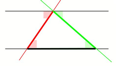 Interior Triangle Angles by Proving That The Angles In A Triangle Sum Up To 180