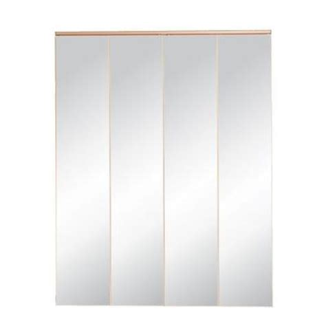 Mirror Closet Doors Home Depot Mirrored Bifold Closet Doors Home Depot Truporte 24 In X 80 In 321 Series Steel White Mirror
