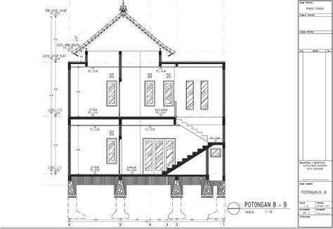 membuat gambar imb tugas struktur konstruksi dan sistem bangunan 2 lrp