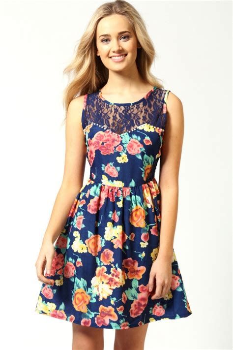 Flowers Dress summer element floral dresses slim fashion