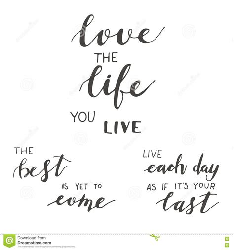 live your 14 days to the best you books lettering motivation set stock vector image 76915933
