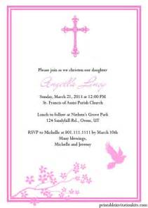 Baptismal Invitation Template Free by Christening Invitation Templates For Baby Boy And
