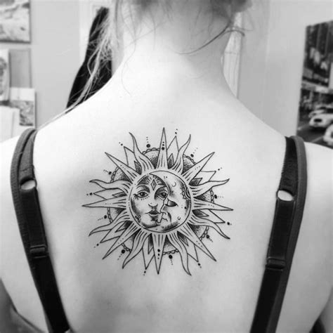 50 meaningful and beautiful sun and moon tattoos kickass